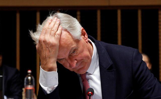 Glavni pogajalec EU za brexit Michel Barnier ocenjuje, da je za celovit sporazum z Združenim kraljestvom o potrebnega nekaj več časa. FOTO: Yves Herman/Reuters
