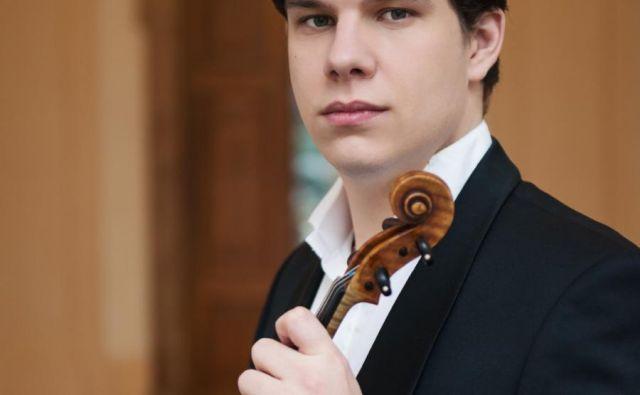 Solist na nocojšnjem koncertu bo češki violinist Jan Mráček. FOTO: Thomas Entzeroth