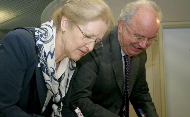 Katarina in Andrej Bajuk. FOTO: Roman Šipić