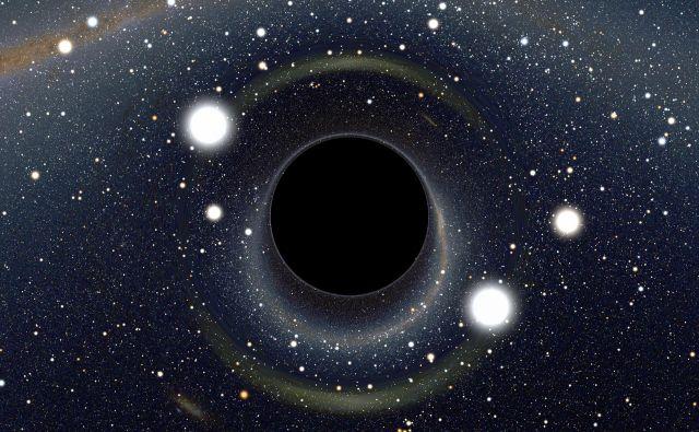 Iz črne luknje ne more pobegniti prav nič, tudi svetloba ne. Vir Nasa
