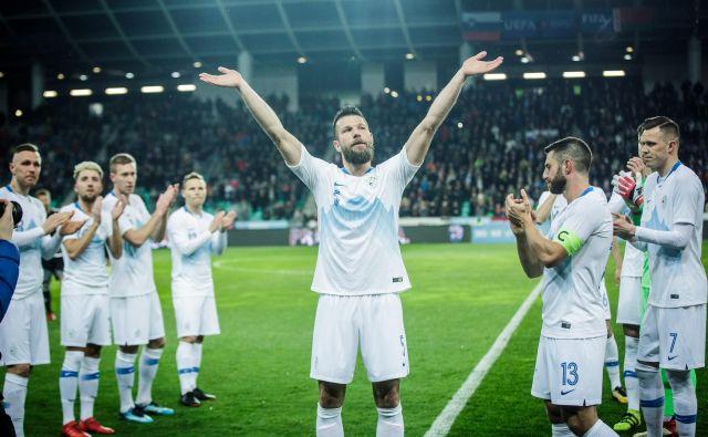 Boštjan Cesar se je letošnjega marca poslovil od reprezentance na tekmi z Belorusijo v Stožicah. FOTO:Sandi Fišer