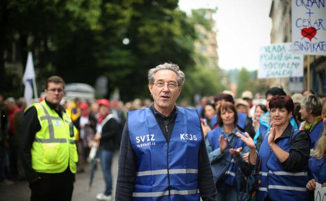 Branimir Štrukelj, glavni tajnik Sviza je današnja pogajanja ocenil za »relativno normalna«.FOTO: Jure Eržen/Delo