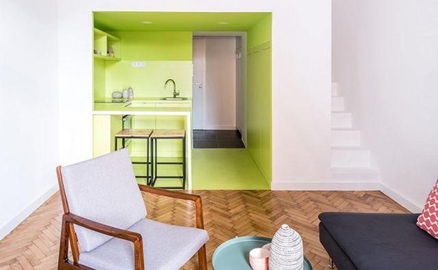Vsako stanovanje je nekoliko drugačnega tlorisa in barv, ki jim dajejo svojevrsten karakter in pečat. Foto: Norbert Juhász