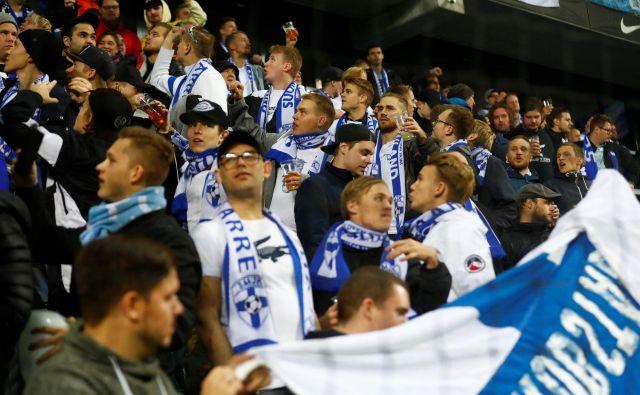 Prava nogometna evforija je zajela tudi Finsko, državo, ki še nikdar ni igrala na evropskem ali svetovnem prvenstvu. Foto Reuters