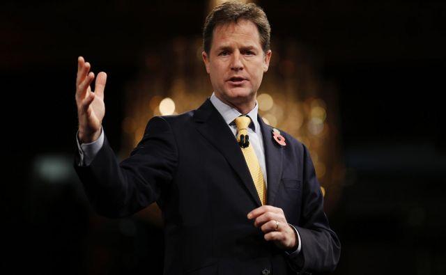 Nick Clegg je oster nasprotnik brexita. FOTO: Justin Tallis/AFP