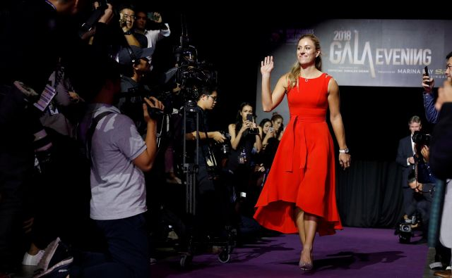 Žreb na ženskem sklepnem turnirju je vedno nekaj posebnega. Na fotografiji: prva nosilka Angelique Kerber.<br /> FOTO: Reuters