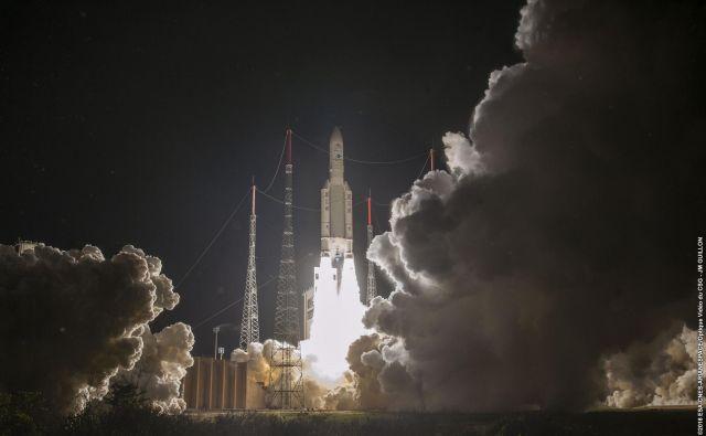 Izstrelitev Ariane 5. FOTO: Jm Guillon/Esa