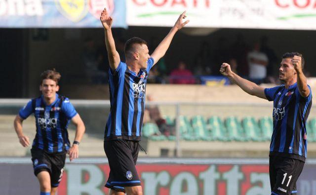 Josip Iličić je dvakrat mojstrsko zadel tudi z razdalje. FOTO: Filippo Venezia/AP