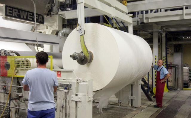 V Palomi naj bi dobili nov papirni stroj. Foto Tadej Regent/Delo