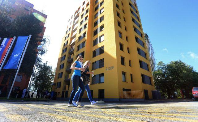 Čakalna lista za javne študentske domove v Mariboru je precej krajša kot v Ljubljani. FOTO: Tadej Regent/Delo