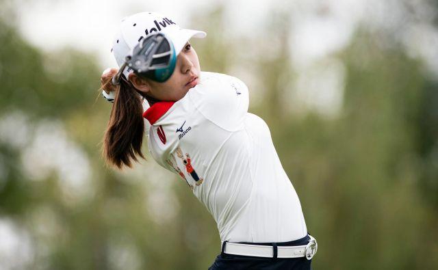 Portret Južnokorejke Lee Mi Huang na golf turnirju LPGA v Šanghaju.Foto Johannes Eisele Afp