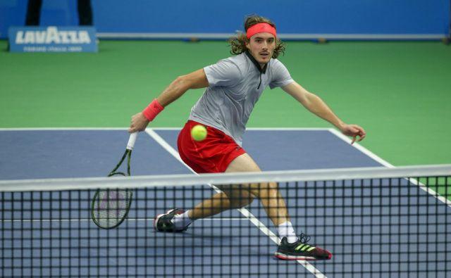 Stefanos Tsitsipas je Grčiji priigral prvo lovoriko ATP v zgodovini. FOTO: AFP
