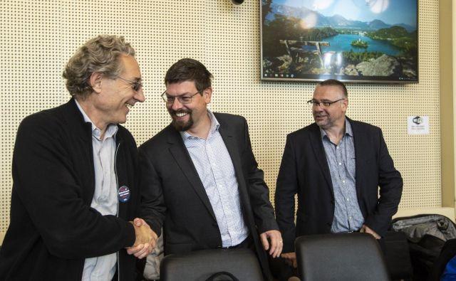 Pogajanja med vlado in sindikati javnega sektorja Foto Voranc Vogel/delo
