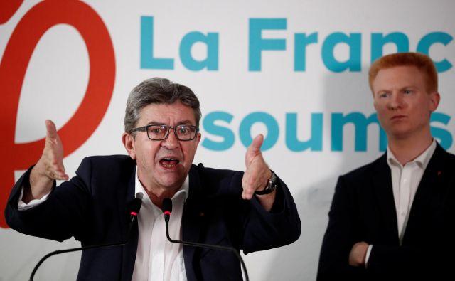 Jean-Luc Mélenchon izgublja živce. FOTO: Reuters