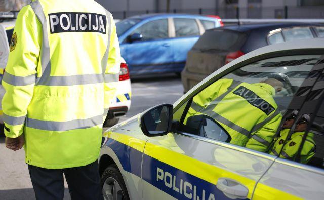 Policisti so voznici v postopku odredili pridržanje.FOTO: Leon Vidic/Delo