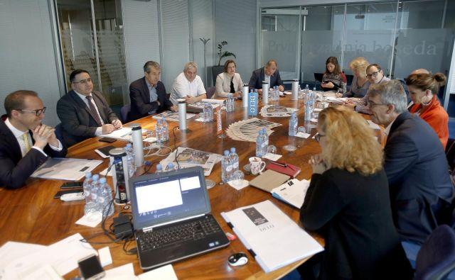 Strokovna komisija pri svojem delu ni imela lahkega dela, saj je morala izbirati med desetimi odličnimi podjetji. FOTO: Blaž Samec/Delo