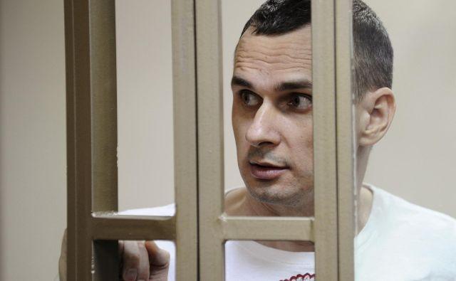 Prejemnika nagrade evropskega parlamenta Sencova Rusija obtožuje načrtovanja terorizma. FOTO: Sergey Pivovarov/Reuters