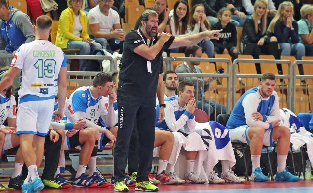 Veselin Vujović si v Estoniji obeta visoko zmago Slovenije. FOTO: Tadej Regent