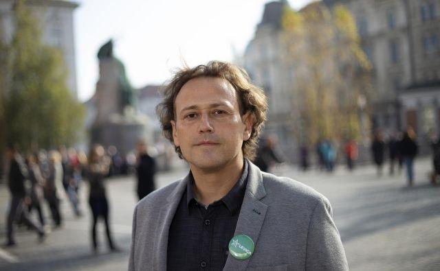 »Ljubljana ni mesto enega človeka, ampak pravica vseh, ki v njem živimo,« meni Milan Jakopovič, kandidat Levice za župana prestolnice. FOTO: Jože Suhadolnik