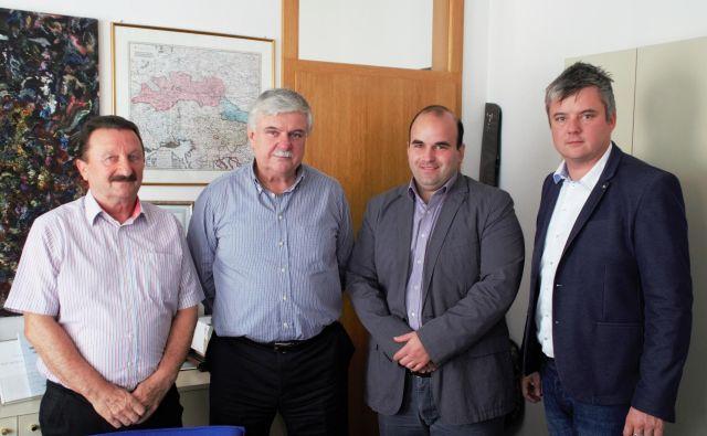 Celjska neodvisna lista je od letos politična stranka. Z leve Mihael Zver, Miran Gracer, Darko Jojić in Miran Gracer mlajši. FOTO: Brane Piano
