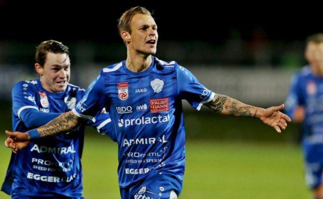 Rajko Rep se je takole veselil dveh golov v derbiju avstrijske Štajerske.<br /> FOTO TSV Hartberg