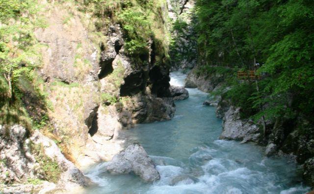 Voda je dolbla Tolminska korita menda vsaj 13.000 let, morda celo 100.000. FOTO: Blaž Močnik