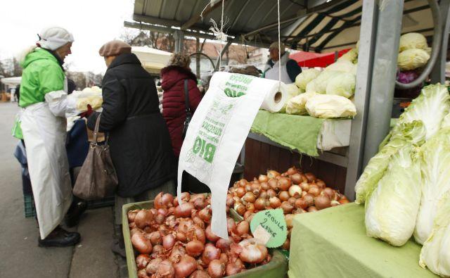 Biorazgradljive vrečke, ki se ne odložijo pravilno, enako onesnažujejo okolje kot klasične plastične. FOTO: Matej Družnik