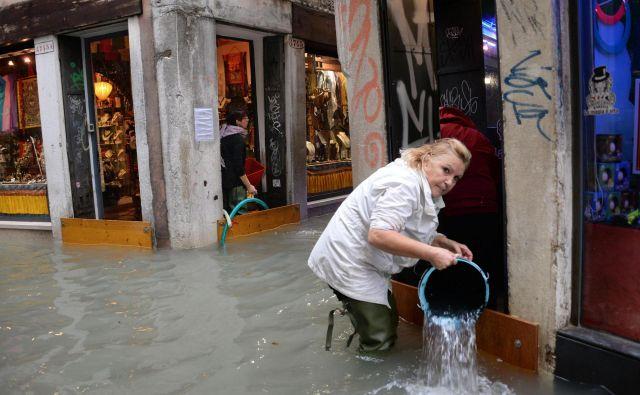 Poplavljenje Benetke. FOTO: Andrea Merola/AP