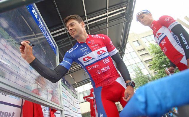 Jure Golčer je bil cestni državni prvak in zmagovalec dirke Po Sloveniji. FOTO: Tadej Regent/Delo
