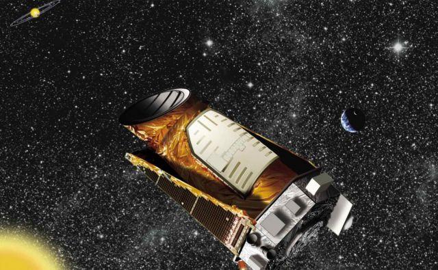 Umetniška upodobitev teleskopa Kepler. FOTO: Nasa
