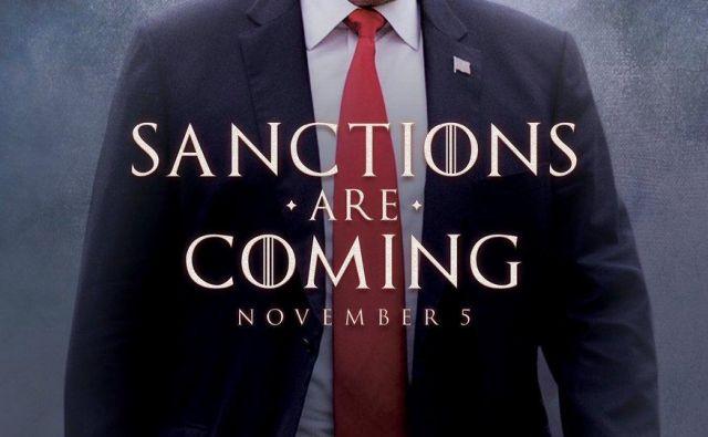 Iz tvita je razvidno, da gre za očitno kopijo kultnega slogana serije Igra prestolov (Game of Thrones). FOTO: Donald Trump/Twitter