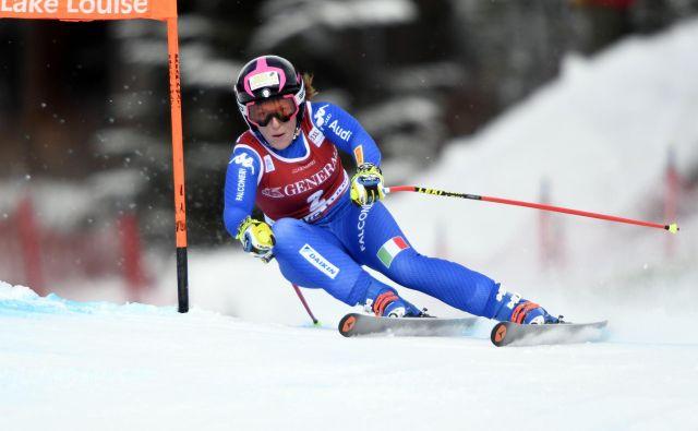 Elena Fanchini je nazadnje tekmovala decembra lani. Sledila je 10-mesečna bolniška odsotnost. FOTO: Usa Today/Reuters