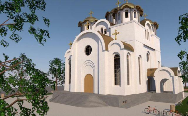 Vizualizacija nove pravoslavne cerkve, ki jo bodo kot prvo po drugi svetovni vojni pri nas zgradili pri koprski avtobusni postaji. Arhiv Pravoslavne cerkve Koper