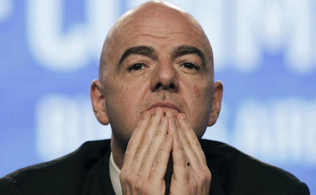 Predsednik Fifa Gianni Infantino je med drugim poudaril, da ne glede na število reprezentanc, SP ne sme trajati dlje kot 28 dni. FOTO: Ap