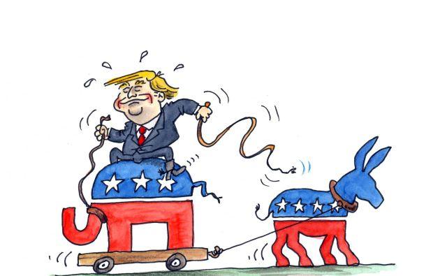Donald Trump in volitve v ZDA. FOTO: Marko Kočevar