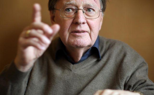 Hans Dieter Klingemann, politolog in dolgoletni direktor Raziskovalnega družboslovnega centra v Berlinu. FOTO: Jure Eržen/Delo
