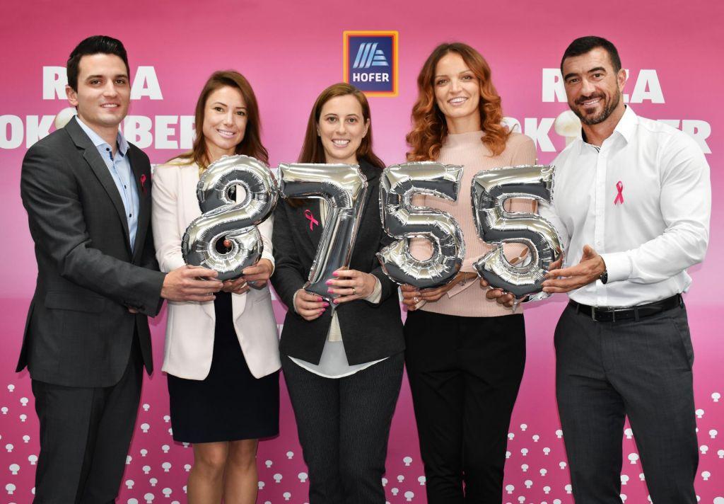 Pri HOFERju namenili 8.755 evrov Slovenskemu združenju Europa Donna