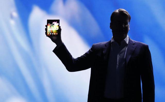 »Živeli smo v svetu, kjer je bila velikost zaslona odvisna od velikosti naprave,« je dejal<strong> </strong>Justin Denison, podpredsednik Samsungovega oddelka za marketing. FOTO: Stephen Lam/Reuters