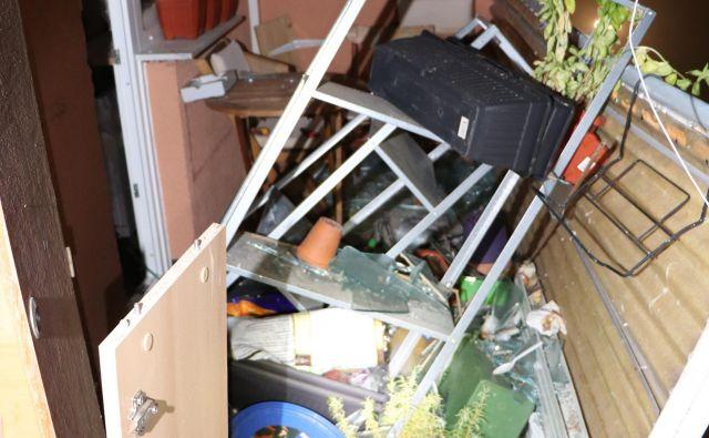 Eksplodiralo je zaradi prerezane plinske inštalacije. FOTO: PU Maribor