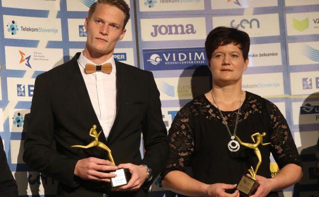 Martina Ratej in Luka Janežič sta med slovenskimi atleti tudi letos najbolj izstopala. FOTO: Tadej Regent/Delo