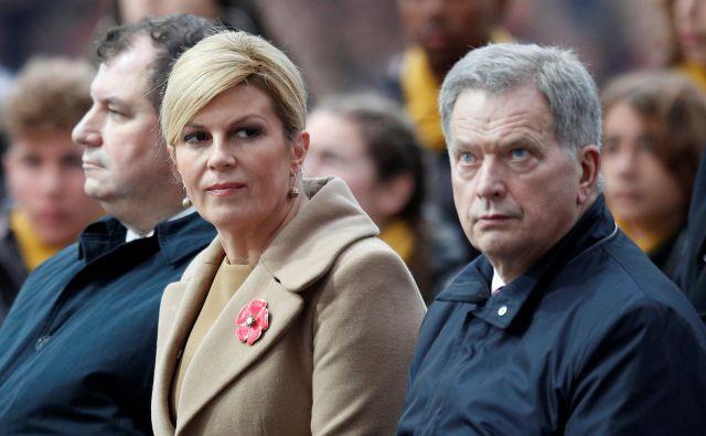 Hrvaška predsednica Kolinda Grabar-Kitarovic je generalnemu sekretarju ZN napovedala udeležbo v Marakešu, potem si je premislila. FOTO: Reuters