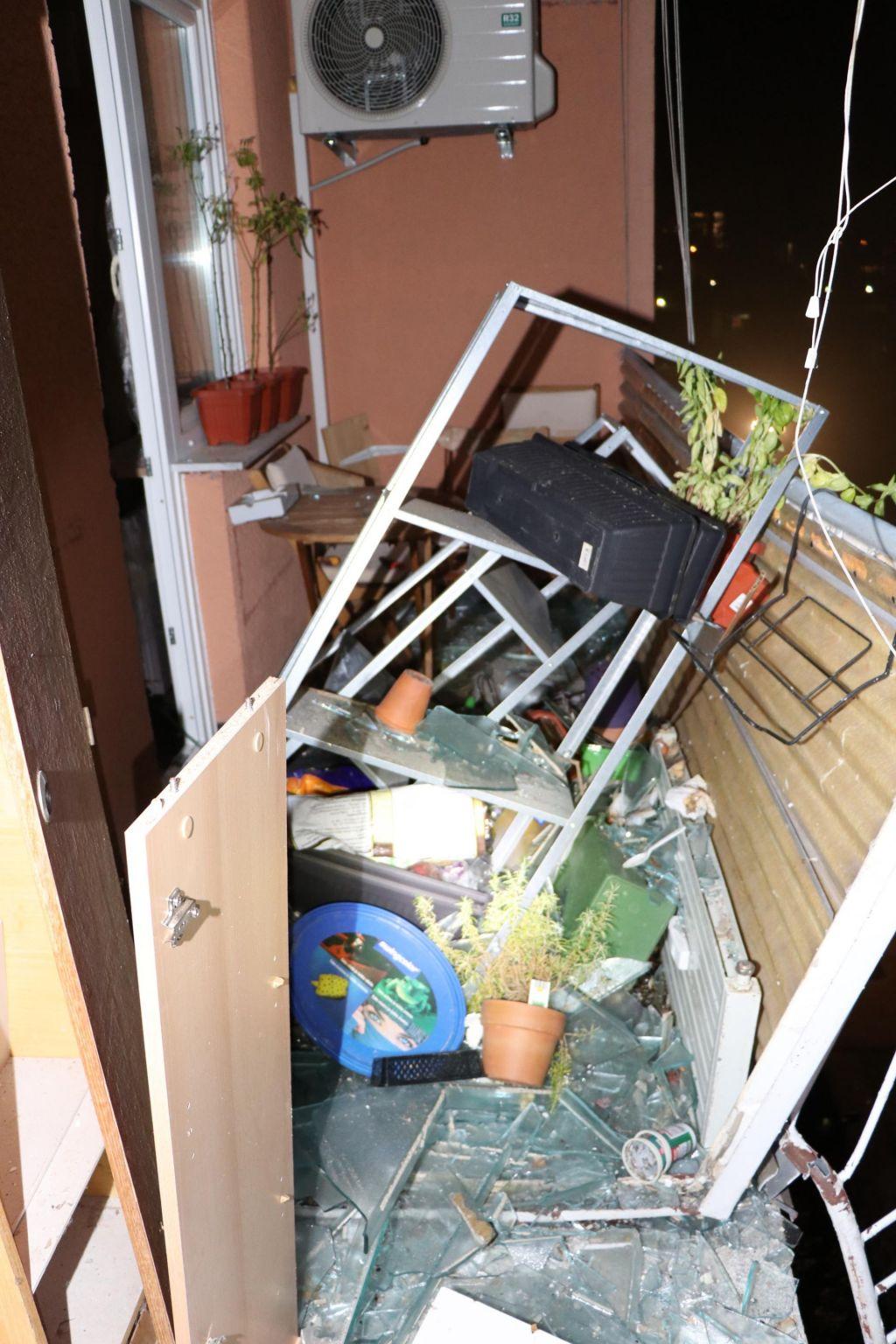 FOTO:Eksplozija povzročila za pol milijona evrov škode, povzročitelju grozi zaporna kazen