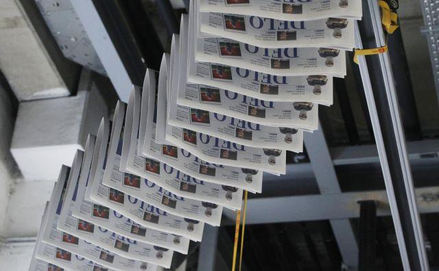 Medijska hiša Delo ostaja največji založnik tiskanih medijev. Foto Leon Vidic/Delo