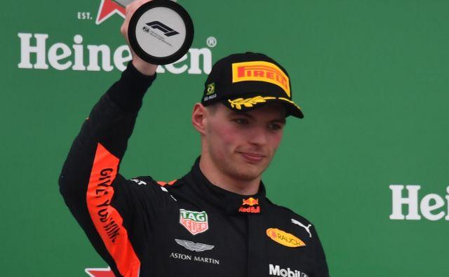 Max Verstappen se je po dirki spozabil. Ne prvič. FOTO: Nelson Almeida/AFP
