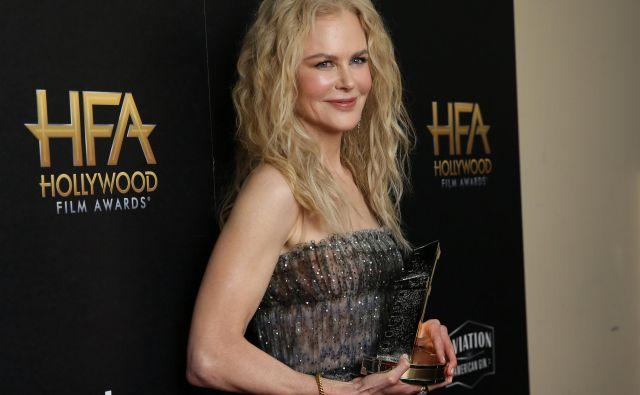 Priznanje za karierne dosežke je prišlo v prave roke - Nicole Kidman. FOTO: Danny Moloshok/ Reuters