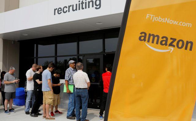Nova štaba Amazona bosta New Yorku in predmestju Washingtona prinesla skupaj 50.000 dobro plačnih delovnih mest. Foto Reuters
