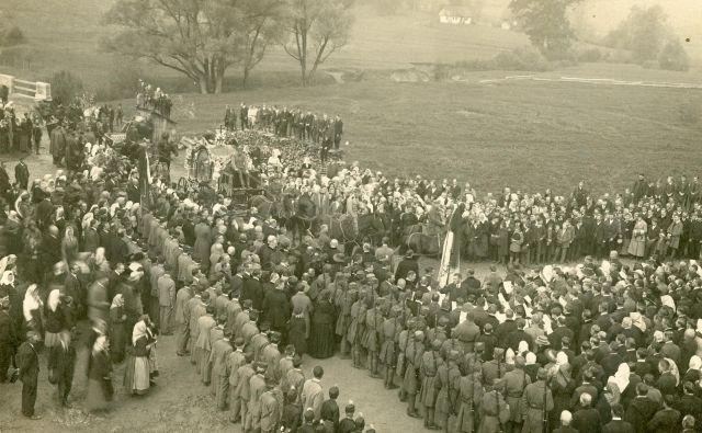 Malgajev pogreb 26. 10. 1919 v Šentjurju. FOTO: hrani MNZC