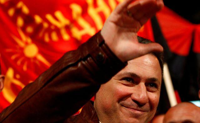 Predsednik Makedonije GjorgeIvanov predstavlja zadnjo možnost Nikole Gruevskega (na fotografiji), da se izogne dve letni zaporni kazni.Foto: Ognen Teofilovski/Reuters