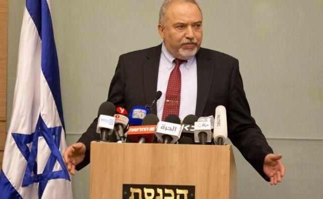 Liberman jeocenil, da je Izrael zadnje mesece sledil povsem napačni politiki. FOTO: Ariel Schalit/AP