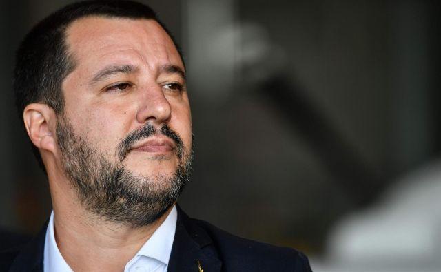 Spor Italije z evropsko komisijo se zaostruje. Na fotografijiMatteo Salvini, notranji minister in podpredsednik vlade. Foto: Alberto Pizzoli/Afp
